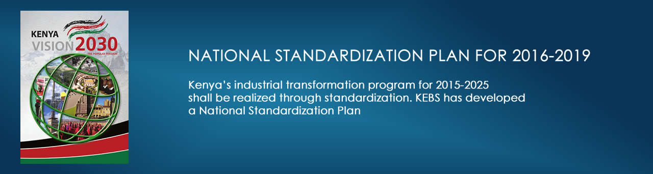 National Standardization Plan 2016-2019